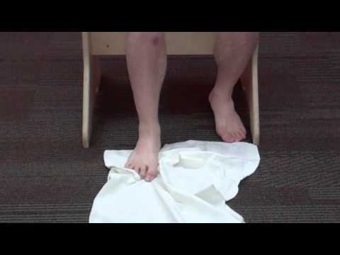 How to do a Towel Scrunch to reactivate foot, arch, and ankle muscles