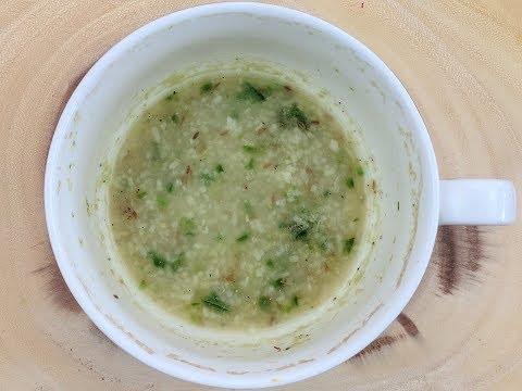Rice Kanji Soup in a Mug - Microwave Recipe