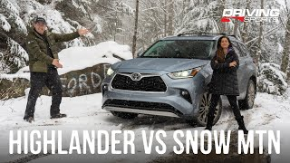 2020 Toyota Highlander AWD Off-Road Snow Adventure and Review