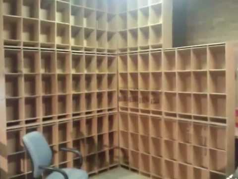 Cardboard DIY Inventory and Storage Bins