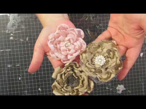 Making vintage looking fabric flowers