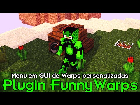 Minecraft Plugin Tutorial FunnyWarps - MENU EM GUI DE WARP PERSONALIZADA