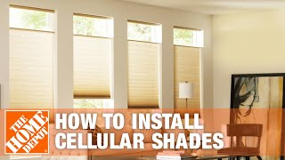 How to Install Inside Mount Blinds: Cellular Shades | The Home Depot