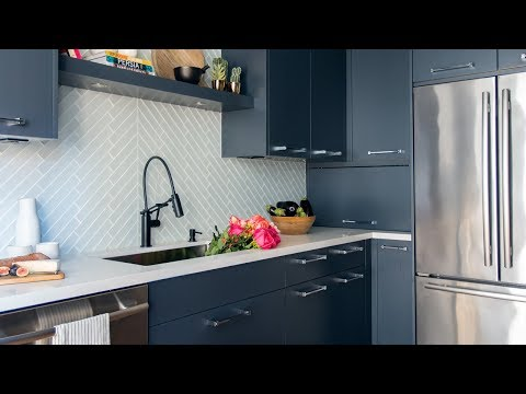 Interior Design: Sleek Dark Kitchen Makeover