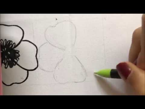 Easy Fabric Painting for Beginners - How to Paint on Fabric ( Part 1- Sketching on Fabric/Cloth)