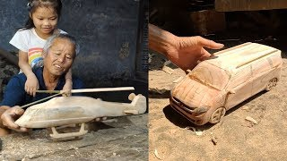 Download 12 Creative handcraft old man use bamboo & wood Video