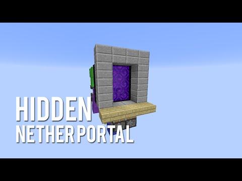 Redstone: Hidden Nether Portal [Tutorial]