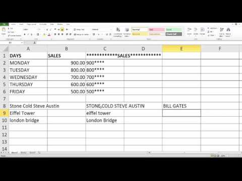 Excel Formulas and Functions : How to convert the text into UPPER or LOWER or PROPER case?