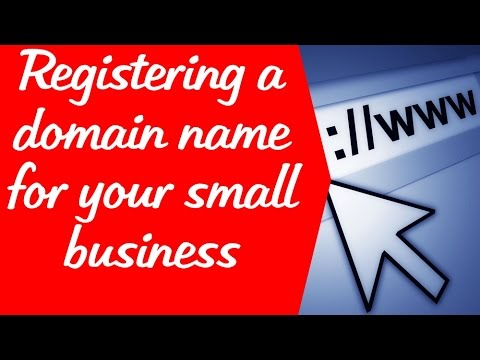 Registering a domain name for your small business