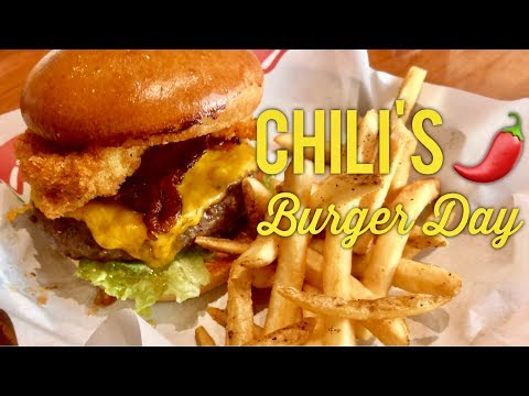 Best Burgers Manila: Chili's Big Mouth Burger Day Southwestern Smokehouse Classic Bacon Burger