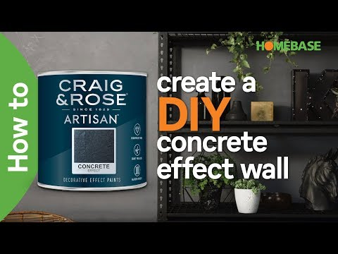 How to create a DIY concrete effect wall | Craig & Rose paint | Homebase
