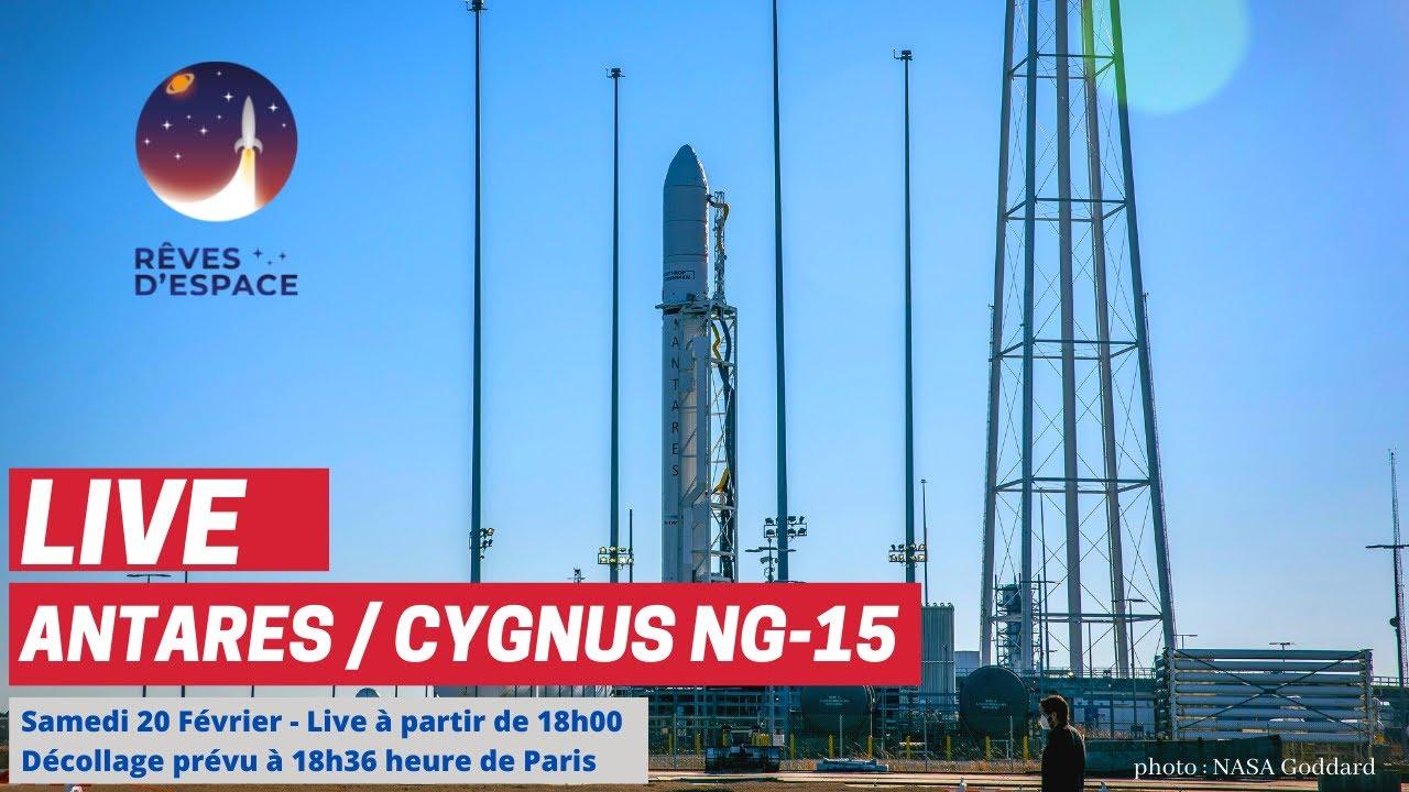 Live : Lancement Antares / cargo Cygnus NG-15 à destination de l'ISS (commenté enFr)