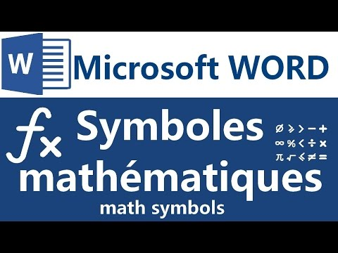 Symboles mathématiques sous Microsoft Word - How to insert math symbols in word