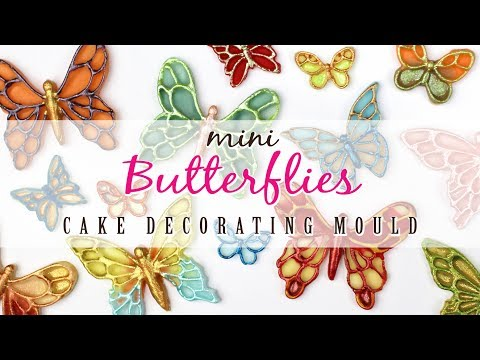Mini Butterflies For Cake Decorating | 3 Methods