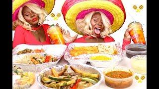 {MEXICAN} DINNER MUKBANG ASMR Eating Sounds Texture | MEGA TINGLE