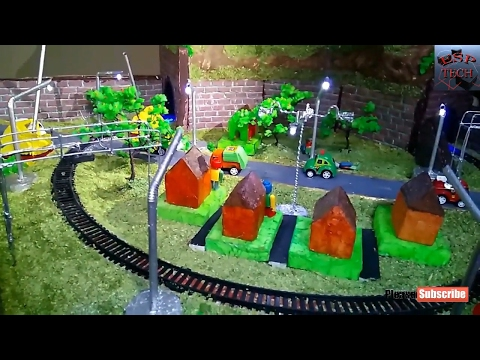 How to make Science Fair / Easy Rail Models / Railway  Working Model /  Unmanned Railway Crossing