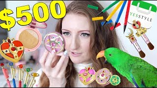 $500 SAILOR MOON MAKEUP!! YESSTYLE HAUL & TRY ON!! FULL DAY WEAR TEST: IS IT WORTH IT?!