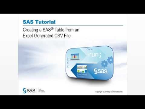 Creating a SAS Table from an Excel-Generated CSV File