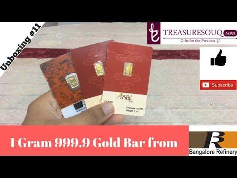 Unboxing 1 Gram 999.9 BRPL Gold Bar.(India)