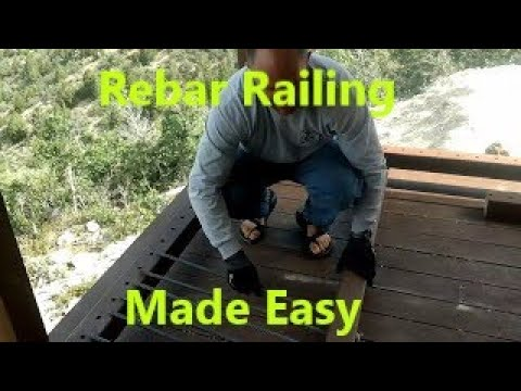 How to do rebar railing with one person(Schaub Family Cabin)