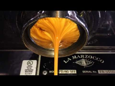 Life and Death of an Espresso Shot in Slow Motion
