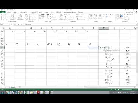 Using OpenSolver for Excel