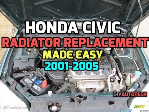 2001-2005 Honda Civic Radiator Repair & Replace - Tech Tips HD