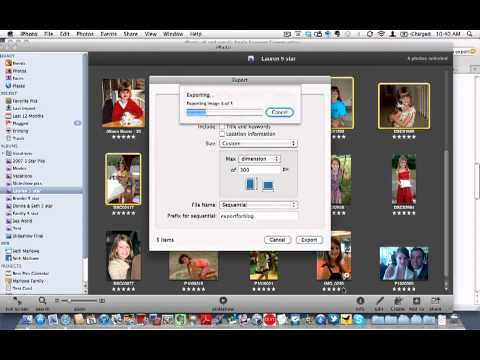 Learn iPhoto 11 - How to resize pictures in iPhoto (you must export them)