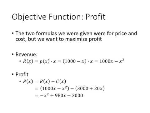 Calculus: Maximizing Profit