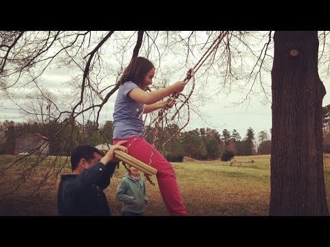 TREE SWINGS! A Family DIY Project