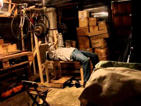 14. home made bench press old timer