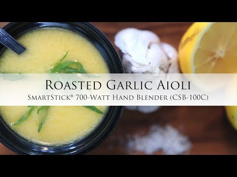Roasted Garlic Aioli using the Smartstick® 700-Watt Hand Blender - CSB-100C