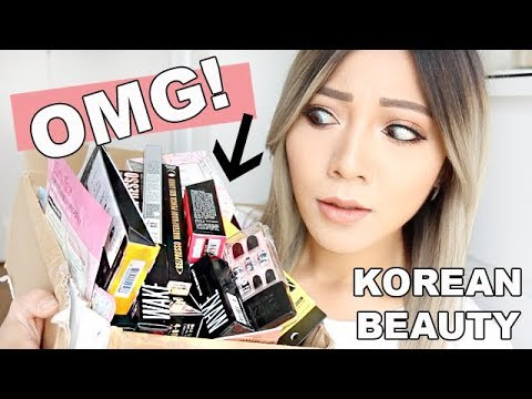 OMG! SHE SENT ME SO MUCH! Korean Beauty Swap with Meejmuse