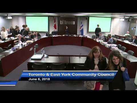 Toronto and East York Community Council - June 6, 2018 - Part 1 of 2
