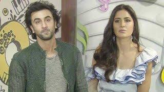 Exes Ranbir & Katrina look Uncomfortable Together At Jagga Jasoos Promotion