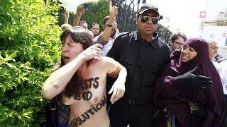 برگزاری دادگاه امینه، عضو تونسی گروه «فمن»