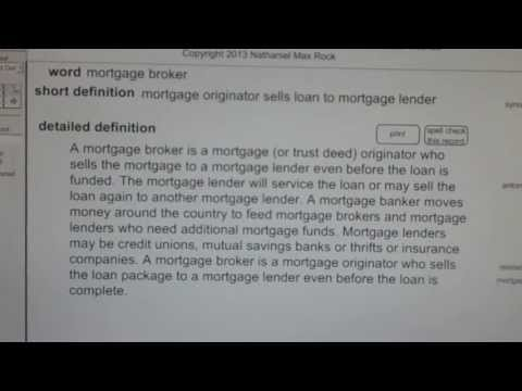 mortgage broker CA Real Estate License Exam Top Pass Words VocabUBee.com