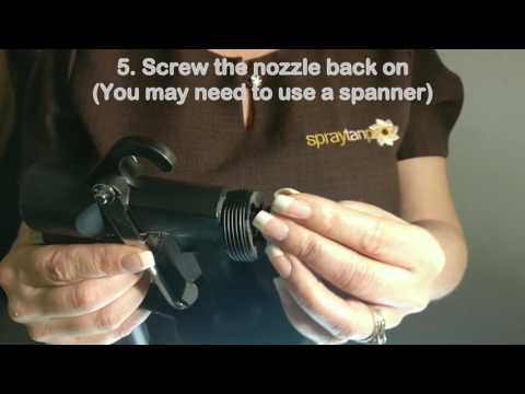 How to clean an HVLP spray tan airbrush nozzle