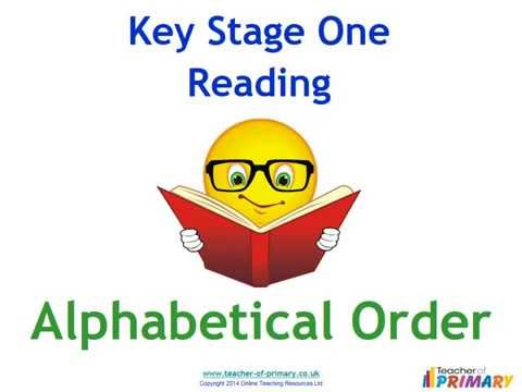 Alphabetical Order - Teaching Resource
