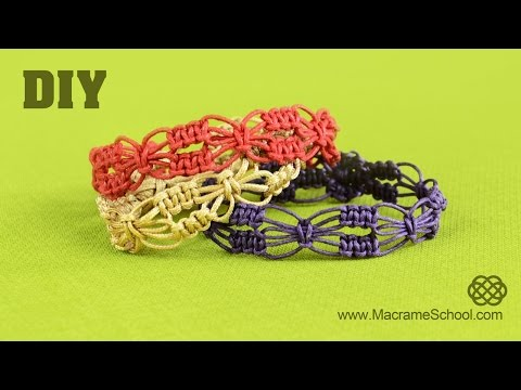 DIY Easy Square Knot Flower Bracelets | Macrame School