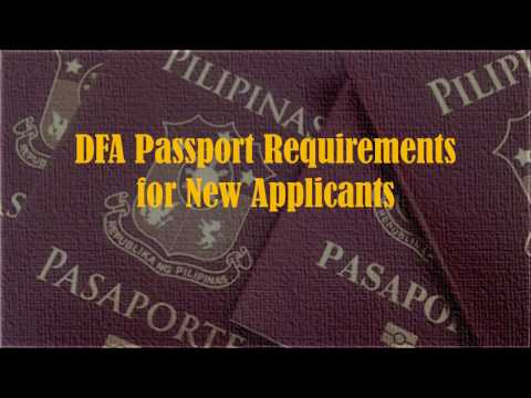 Passport Requirements for New Applicant (Adults)