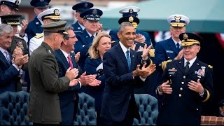 The President Speaks at the Farewell Ceremony for General Dempsey