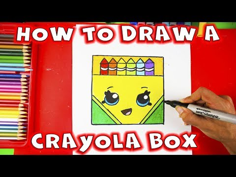 How to Draw a Crayon Box Step by Step Easy and Cute