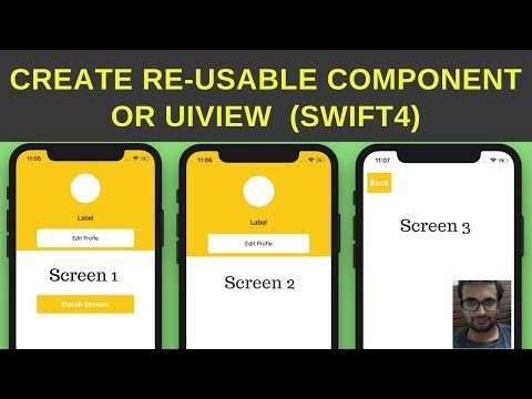 Swift Tutorial -  Create re useable UIView or re usable component objects