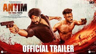 ANTIM: The Final Truth - Official Trailer   Salman Khan, Aayush Sharma   Mahesh V Manjrekar   Nov 26