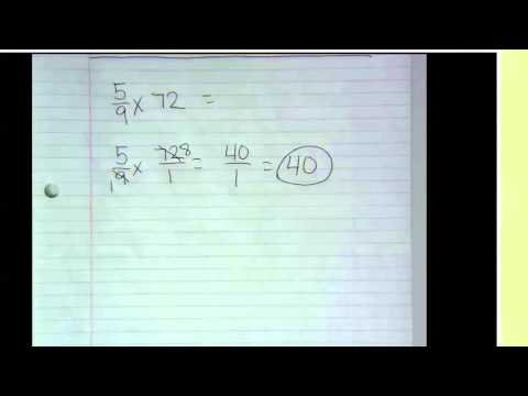 Product of a fraction and a whole number: Problem type 1