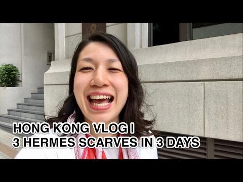 HONG KONG VLOG 72   3 HERMES SCARVES IN 3 DAYS
