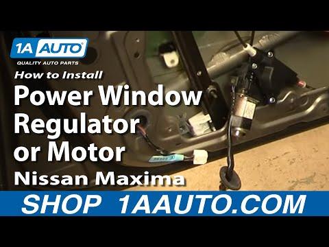 How To Install Replace Power Window Regulator or Motor Nissan Maxima 04-08 1AAuto.com
