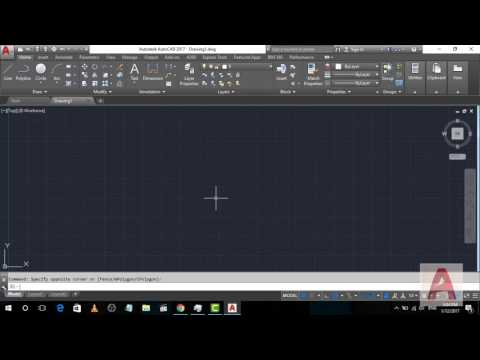Introduction to AutoCad 2017 Tutorial series