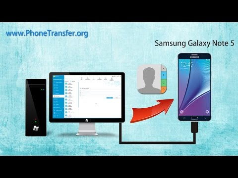 [VCF Contacts to Samsung Note 5]: How to Import Contacts from vCard to Samsung Galaxy Note 5